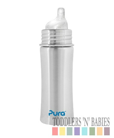 Toddlers N Babies Pura Kiki 11oz Sippy Bottle Natural