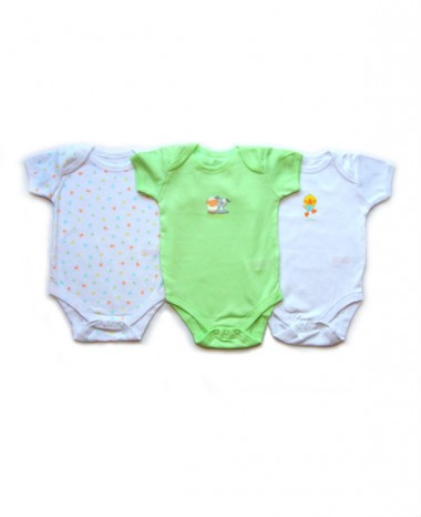 0-3 Months Short Sleeve Bodysuits