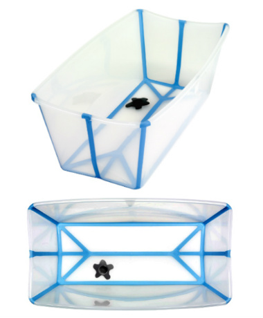 FlexiBath The Award Winning Foldable Baby Bath - Transparent / Blue