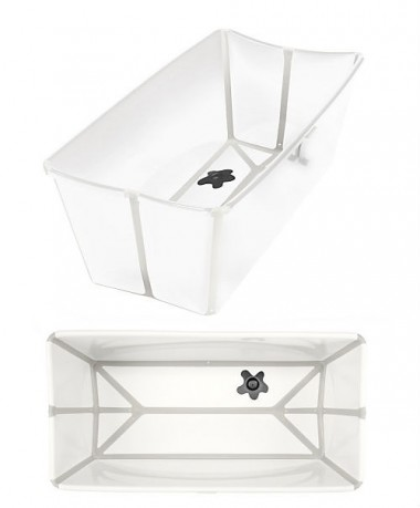 FlexiBath The Award Winning Foldable Baby Bath - White/Grey