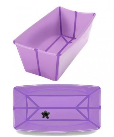 FlexiBath The Award Winning Foldable Baby Bath - Purple/Dark Purple