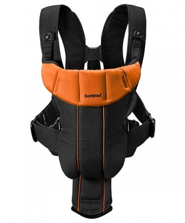 BabyBjorn Baby Carrier Active - Black/Orange