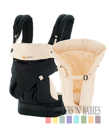 Ergobaby Four Position 360 Bundle of Joy Carrier - Black/Camel