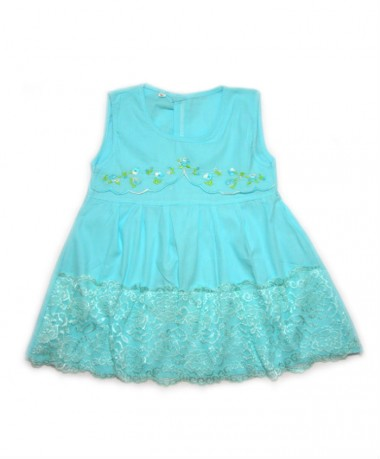 Light blue dress with lace pattern