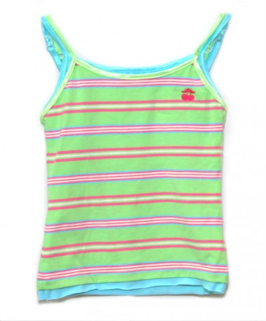 Green/pink striped vest