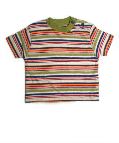 Multi colour striped t-shirt