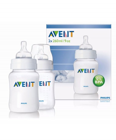 Philips AVENT BPA Free 9oz/260ml Classic Bottles (Twin Pack)