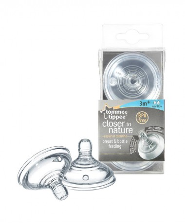 Tommee Tippee Closer to Nature Easivent Medium Flow Teats