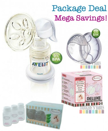 Package Deal Deluxe - Philips AVENT BPA Free ISIS Manual Breast Pump
