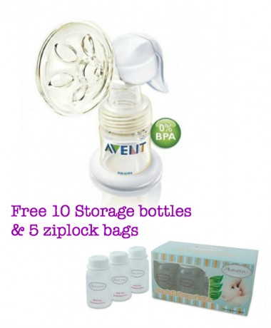 Philips AVENT BPA Free ISIS Manual Breast Pump + FREE GIFT