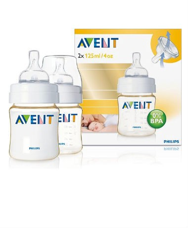 Philips AVENT BPA-Free Extra Durable (PES) 4oz/125ml Bottles (twin pack)