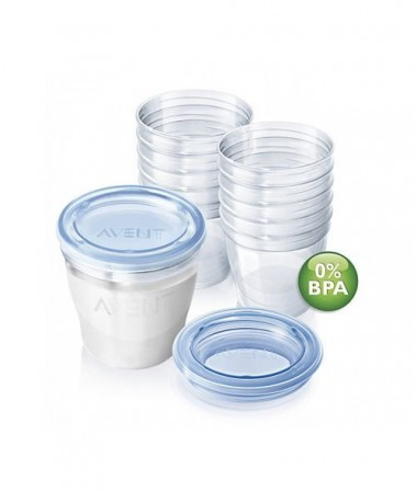 Philips AVENT VIA Breast Milk Containers 10x180ml