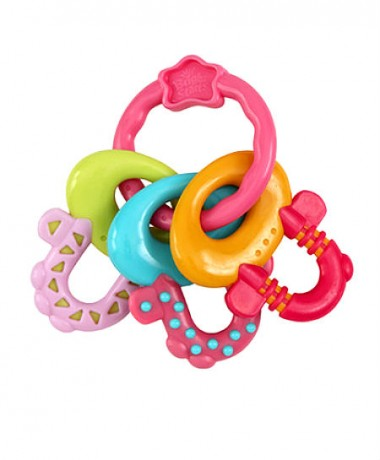 Bright Starts Pretty In Pink License To Drool Teether