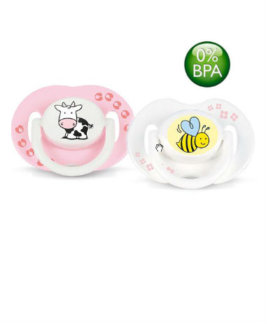 Philips AVENT Orthodontic Pacifier BPA Free Bright, colorful animal design 0-6 months