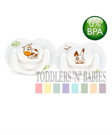 Philips AVENT Orthodontic Pacifier BPA Free Bright, animal design 0-6 months
