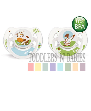 Philips AVENT Orthodontic Pacifier BPA Free Bright, animal design 6-18 months