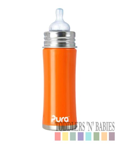 Pura Kiki 11oz Infant Bottle Orange