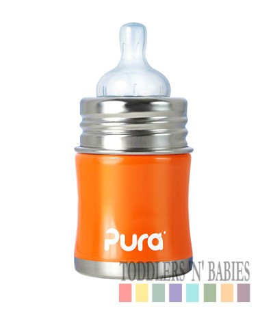 Pura Kiki 5oz Infant Bottle Orange