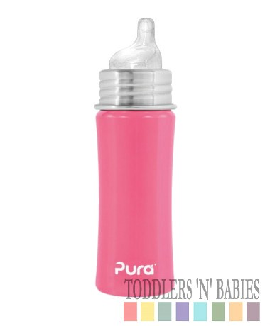 Pura Kiki 11oz Sippy Bottle Pretty Pink