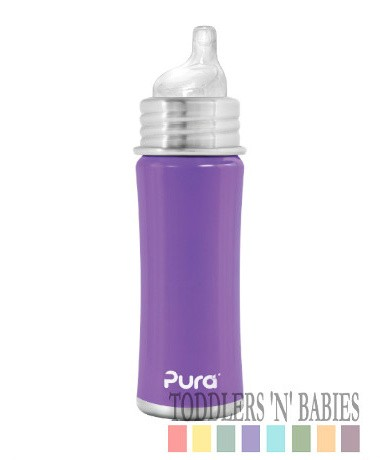 Pura Kiki 11oz Sippy Bottle Purple