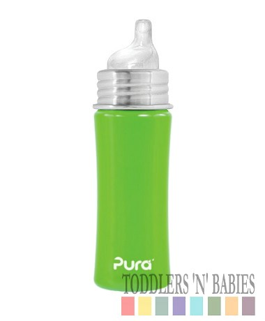 Pura Kiki 11oz Sippy Bottle Spring Green