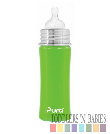 Pura Kiki 11oz Infant Bottle Spring Green