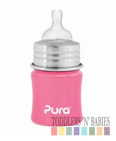 Pura Kiki 5oz Infant Bottle Pretty Pink