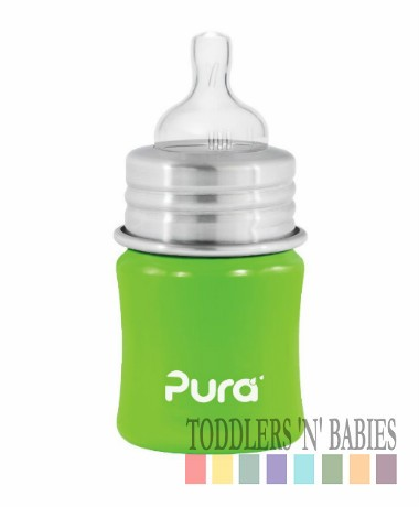Pura Kiki 5oz Infant Bottle Spring Green