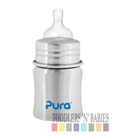 Pura Kiki 5oz Infant Bottle Natural Stainless