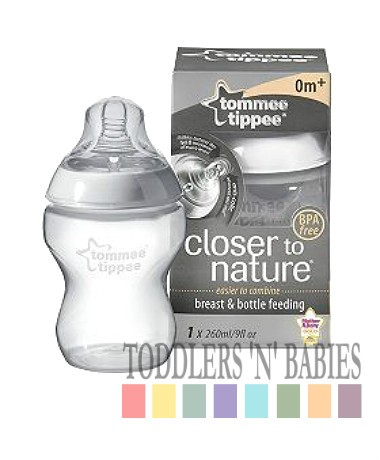 Tommee Tippee Closer to Nature 260ml Easivent Bottles Single