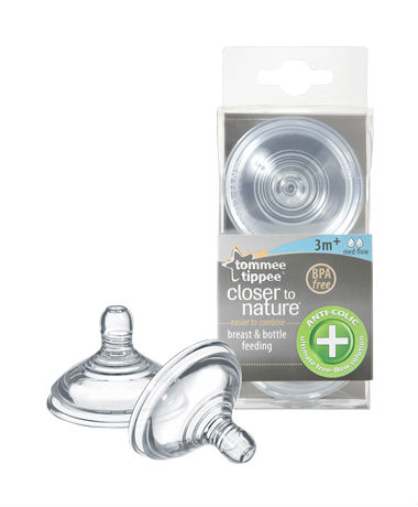 Tommee Tippee Closer to Nature Anti Colic Plus Medium Flow Teats