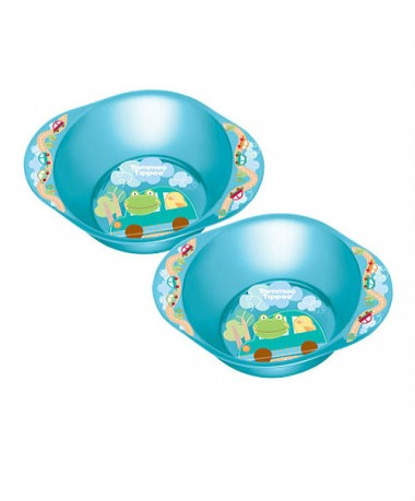 Tommee Tippee Explora Decorated Bowls (Pack of 2) Blue
