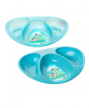 Tommee Tippee Explora Decorated Section Plates (Pack of 2) Blue