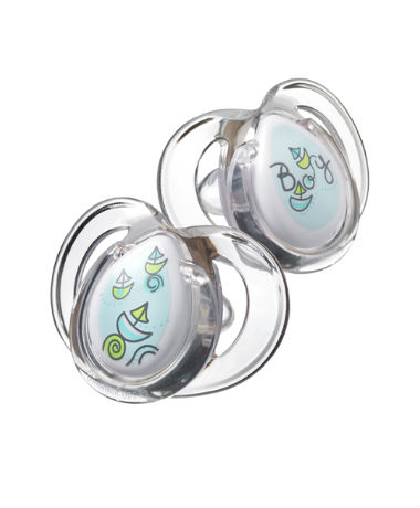 Tommee Tippee Closer to Nature Pure Soother 3-9 months (2pcs) Blue
