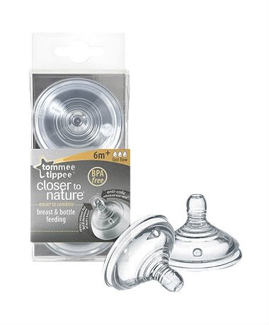 Tommee Tippee Closer to Nature Easivent Fast Flow Teats
