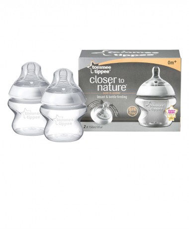 Tommee Tippee Closer to Nature 150ml Easivent Bottles x2