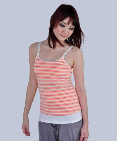 Autumnz ALISON Padded Nursing Tank - Zesty Stripes