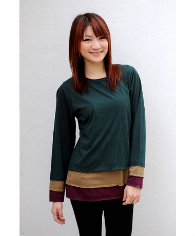 Autumnz Colourblock Tee - Green