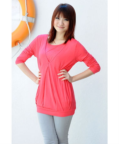 Autumnz Glam Long Sleeve - Coral