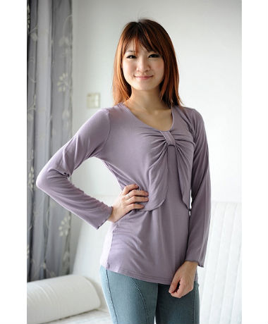 Autumnz Perfect Twist Long Sleeve Top - Crocus