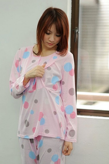 Autumnz Polka Pyjamas Set - Pink