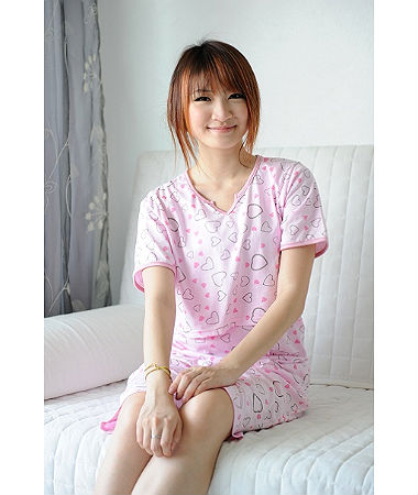 Autumnz Romantica Pyjamas Set - Pink (Short Pants)
