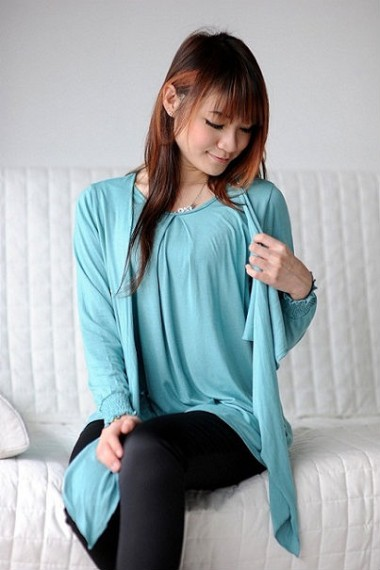 Autumnz Sienna Long Sleeve 2-in-1 Top - Sea Green