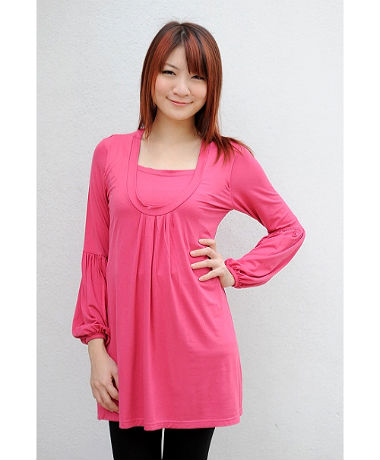 Autumnz Sommerset Long Sleeve Tunic - Rose
