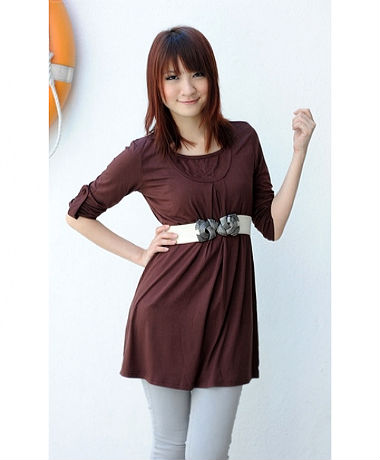 Autumnz Uptown Long Sleeve Tunic - Brown