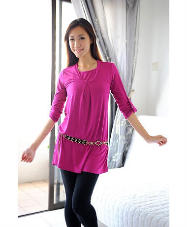 Autumnz Uptown Long Sleeve Tunic - Maroon