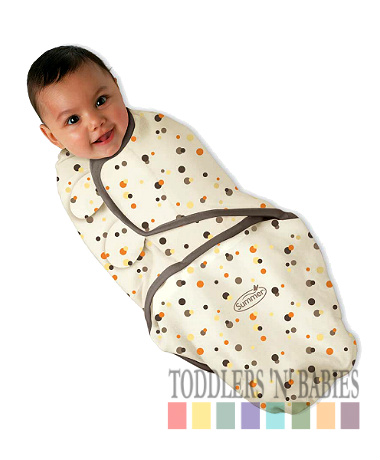 Summer Infant SwaddleMe Cotton Knit - Mocha Dots