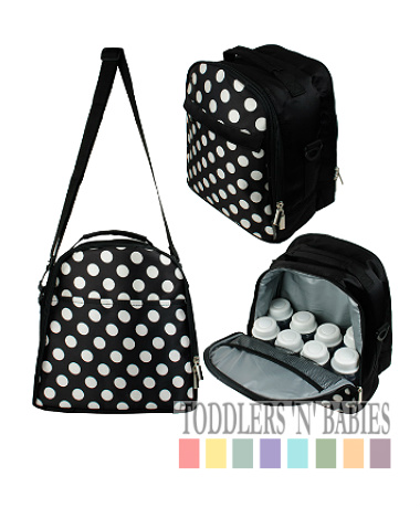 Autumnz Classique Cooler Bag - Black Polka (FREE GIFT)