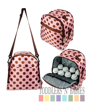 Autumnz Classique Cooler Bag - Pink Polka (FREE GIFT)