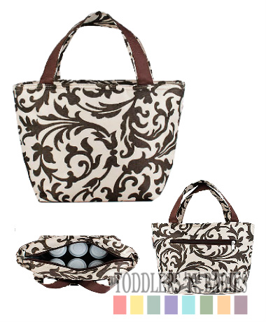 Autumnz Trendy Cooler Tote - Pansy Cluster Brown
